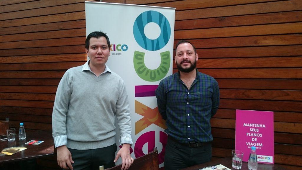 Gabriel Lopez e Sebastian Bremont, do Conselho de Promoção Turística do México
