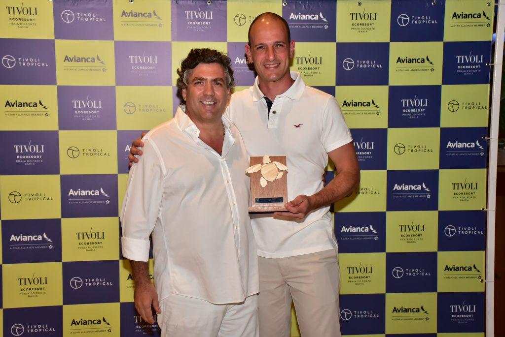 João Eça Pinheiro e Rodrigo Napoli, da Avianca, parceira e apoiadora dos grandes eventos do Ecoresort