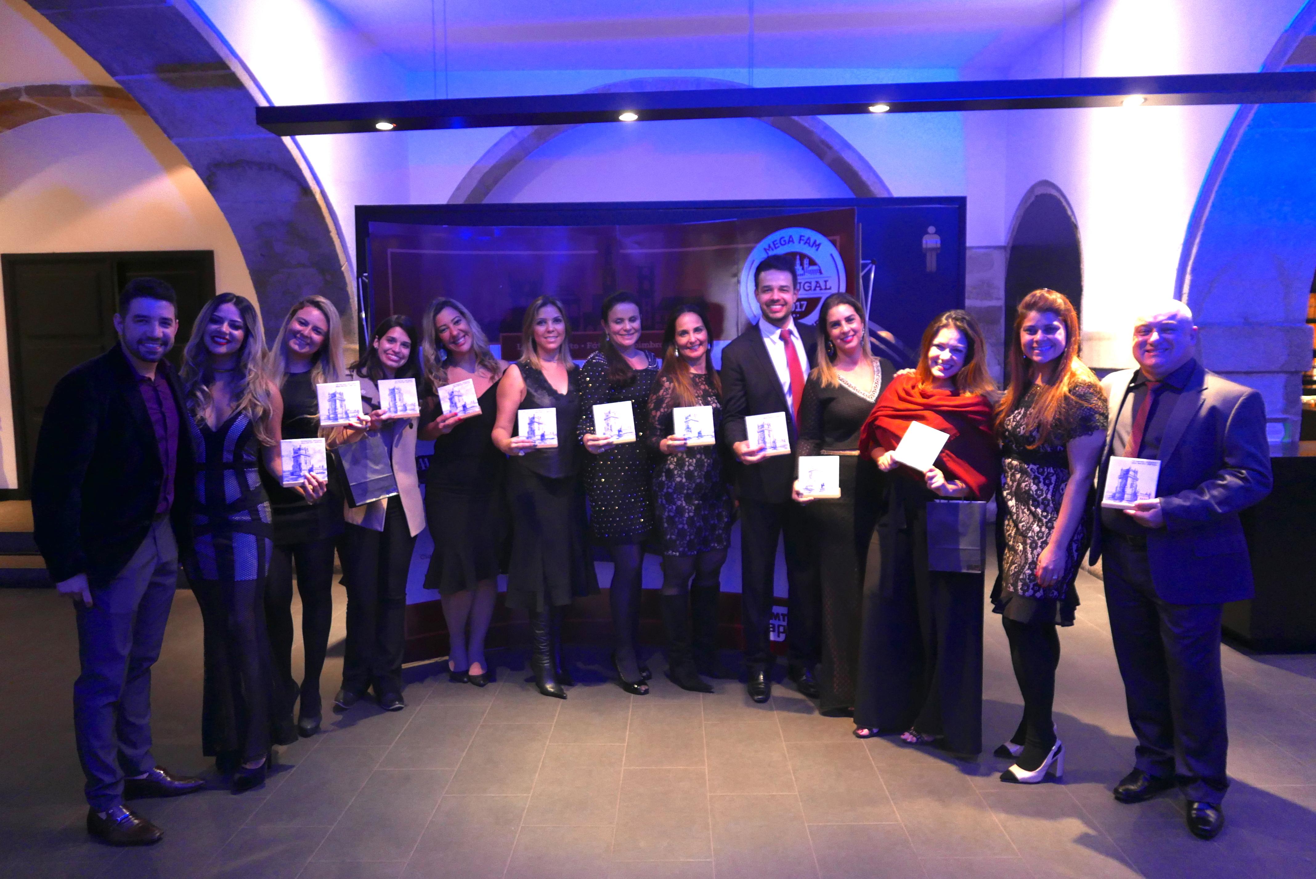 Os ganhadores de Minas Gerais recebem os troféus e as devidas homenagens