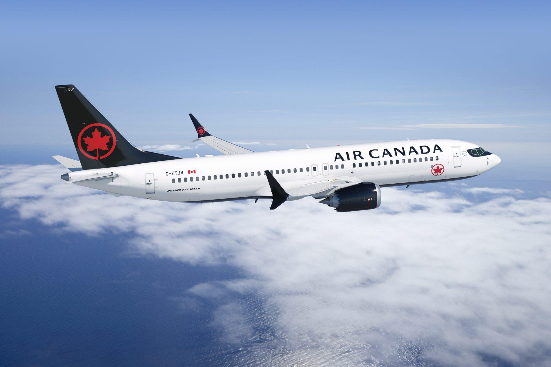 O novo Boeing 737 MAX da Air Canada (Fotos: Air Canada/Divulgação)