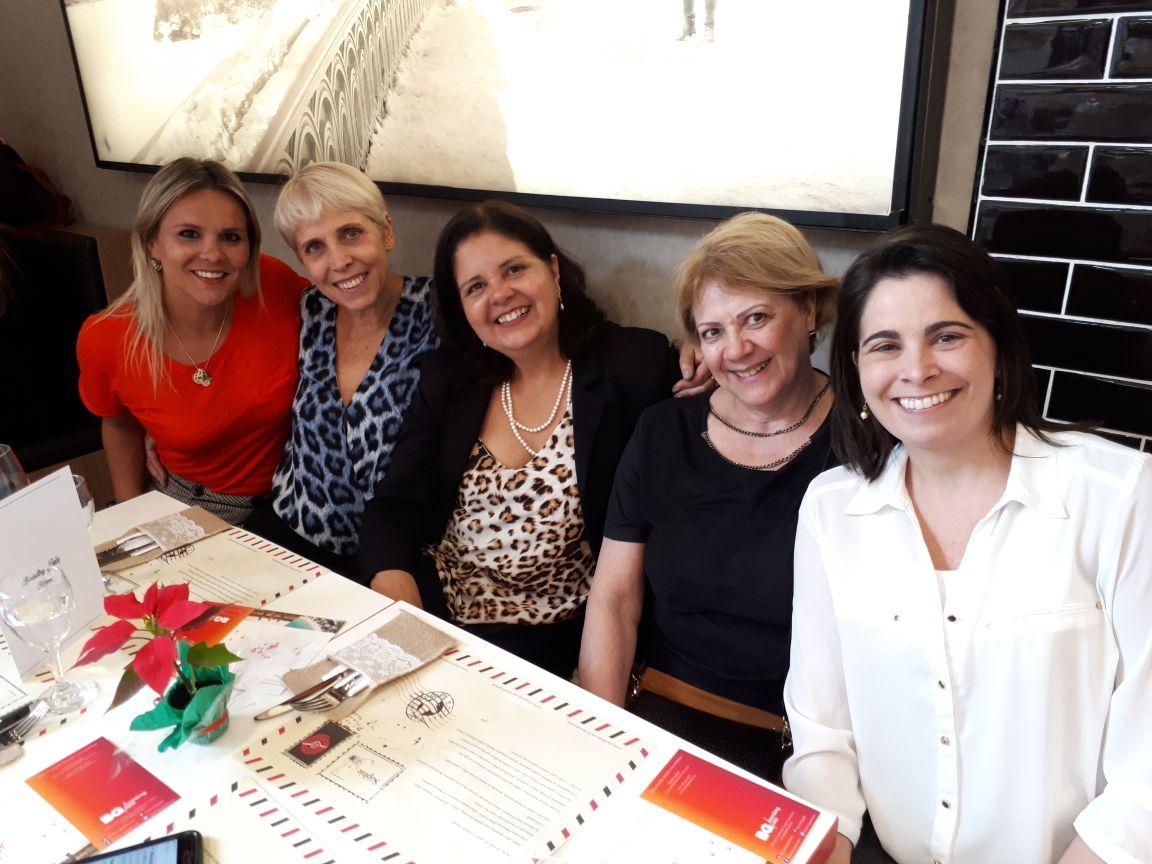 Almoço Natal Boarding Gate Alessandra Verna, Chris Kler, Cirlei Leal, Sandra Rodrigues, Samanta Machado