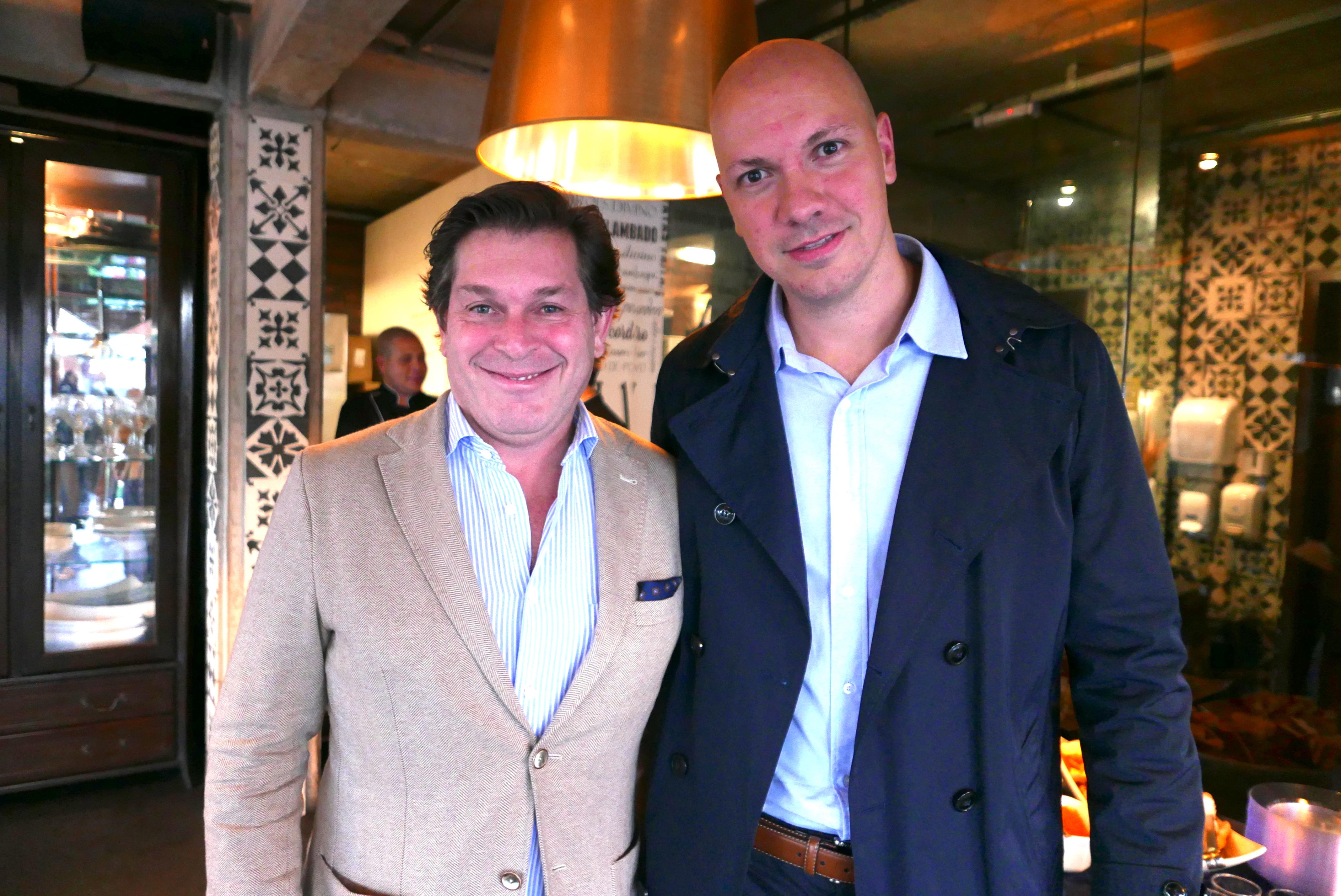 Bernardo Cardoso, Diretor do Turismo de Portugal e Presidente da ECT no Brasil, e Marcelo Kaiser, gerente geral da Aviareps, representante Brasil da ETC