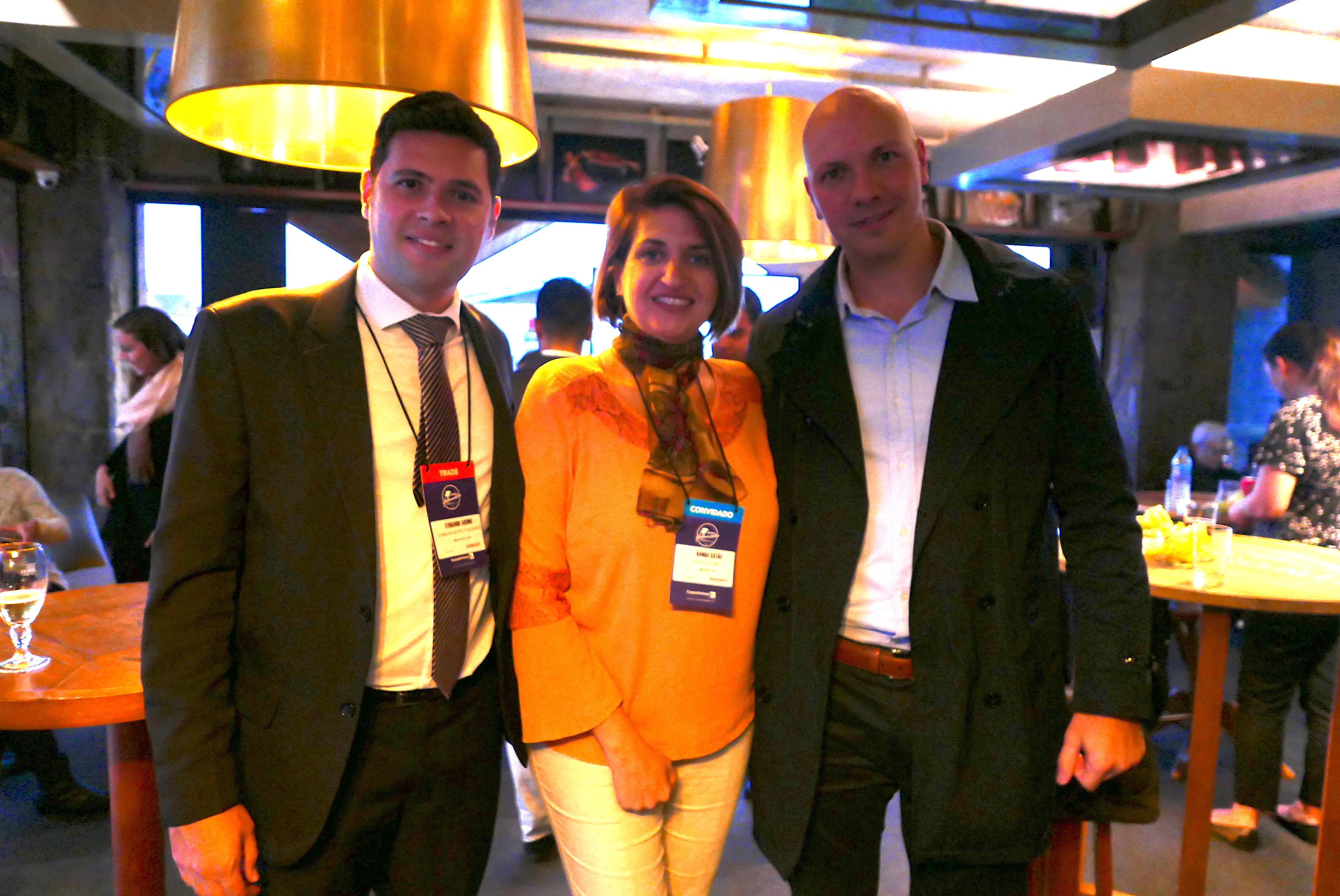 Fernando Aquino, representante Brasil da região de Jungfrau + Interlaken (Suíça); Wanda Catão, Gerente Regional para a América Latina de Lucerna (Suíça), e Marcelo Kaiser