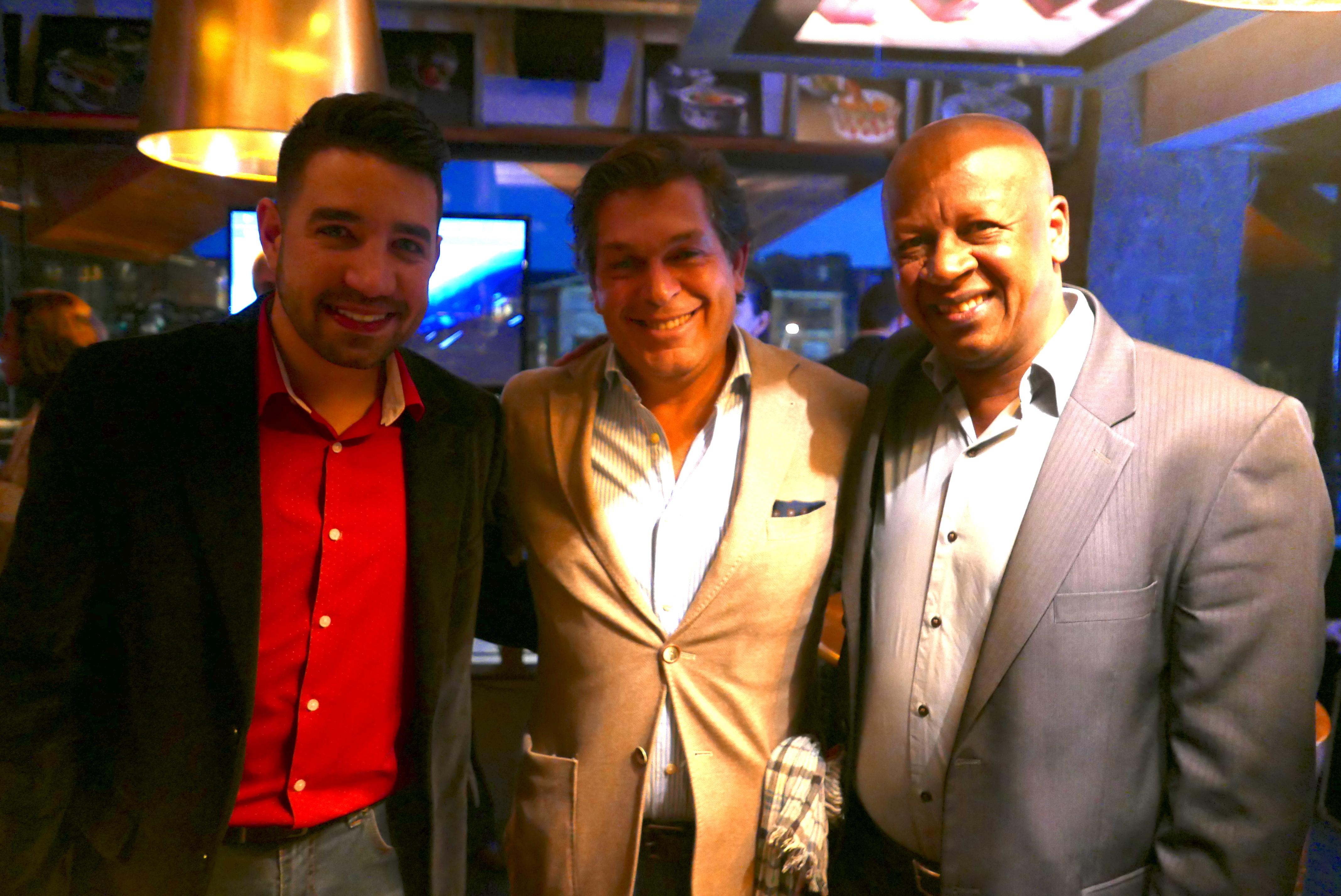 Bernardo Cardoso com Hugo Lagares e Deco Borges, da MMTGapnet