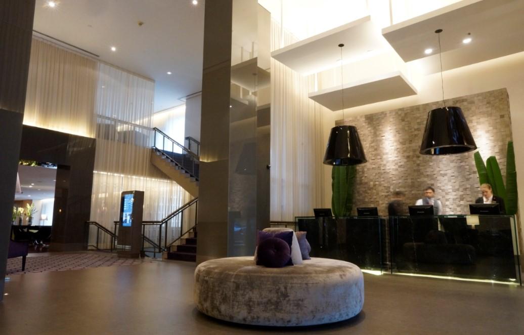 Lobby do hotel, localizado próximo a Av. Paulista InterContinental São Paulo