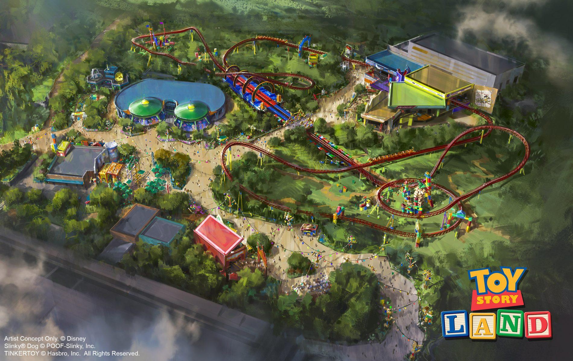 Perspectiva artística da Toy Story Land, cuja inauguração está prevista para o verão norte-americano de 2018