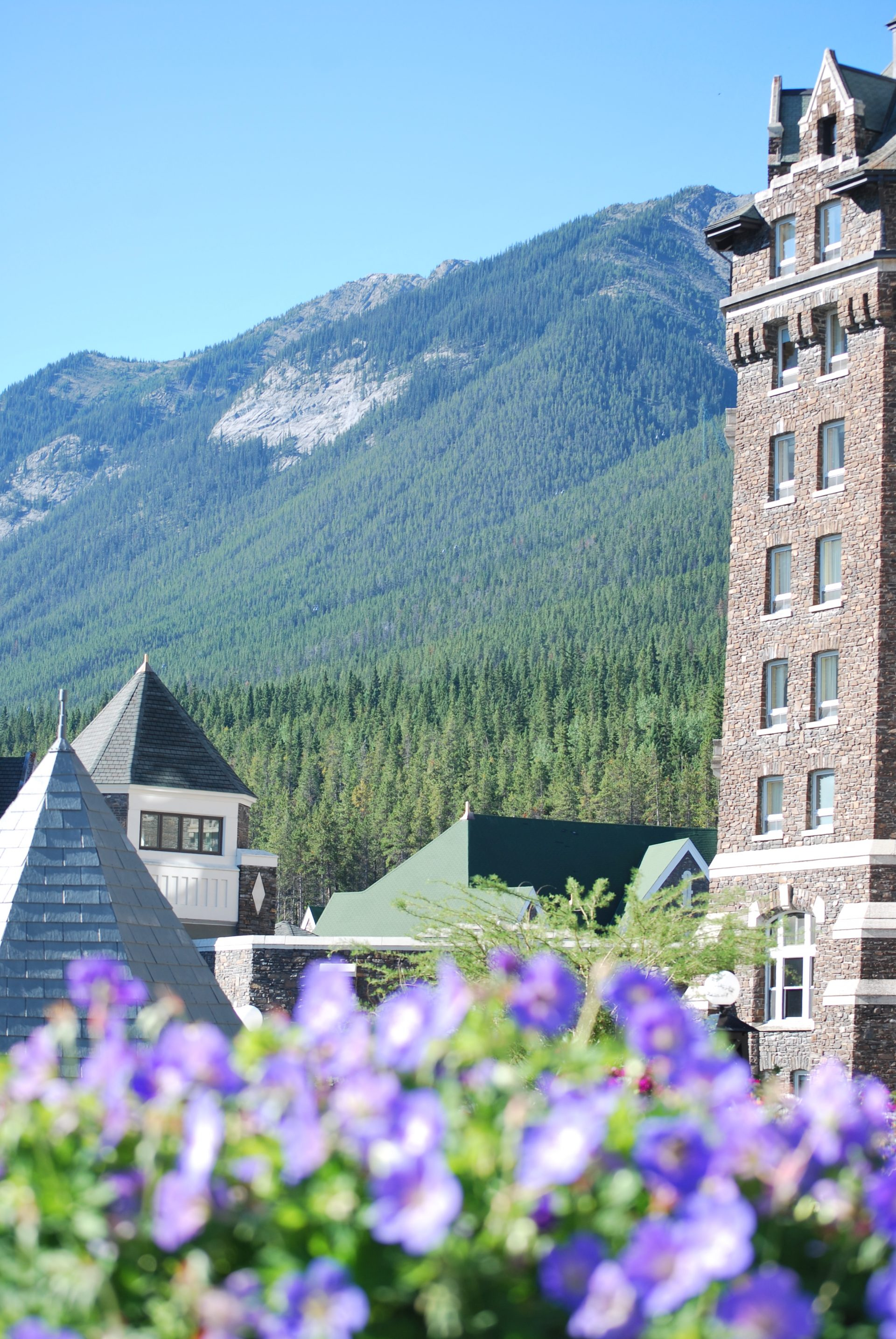 Fachada do hotel Fairmont Banff Springs