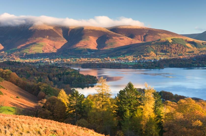 O belo cenário de Lake District