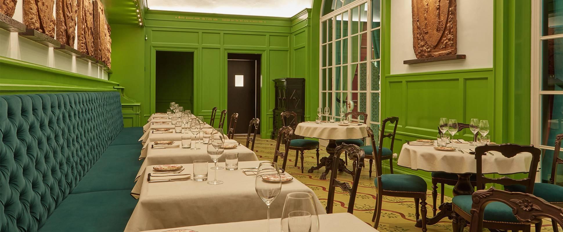 Ambiente da Gucci Osteria da Massimo Bottura