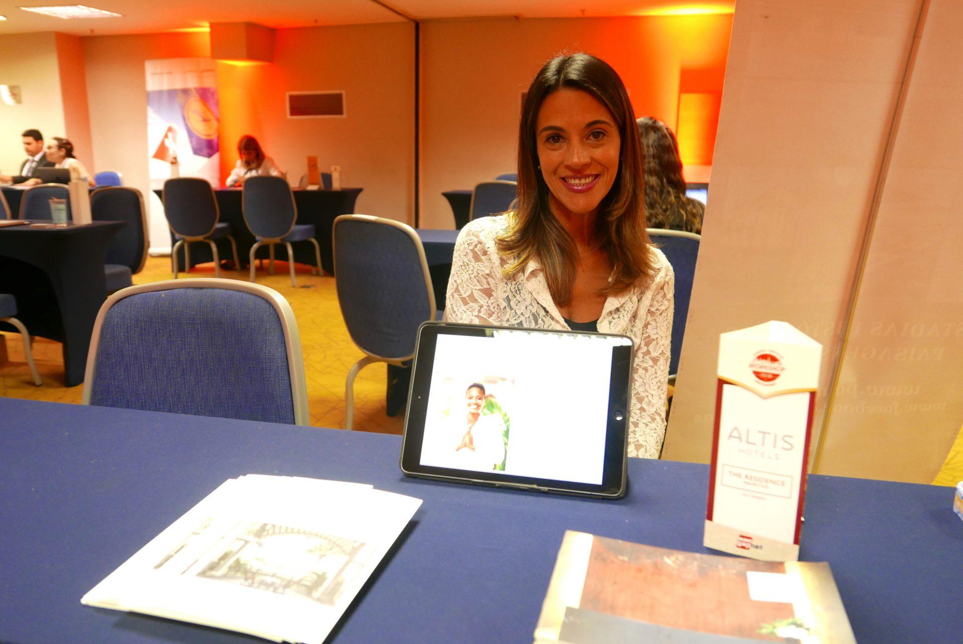 Denise Ribeiro, da XMart, mostrou o portfolio dos hotéis Altis