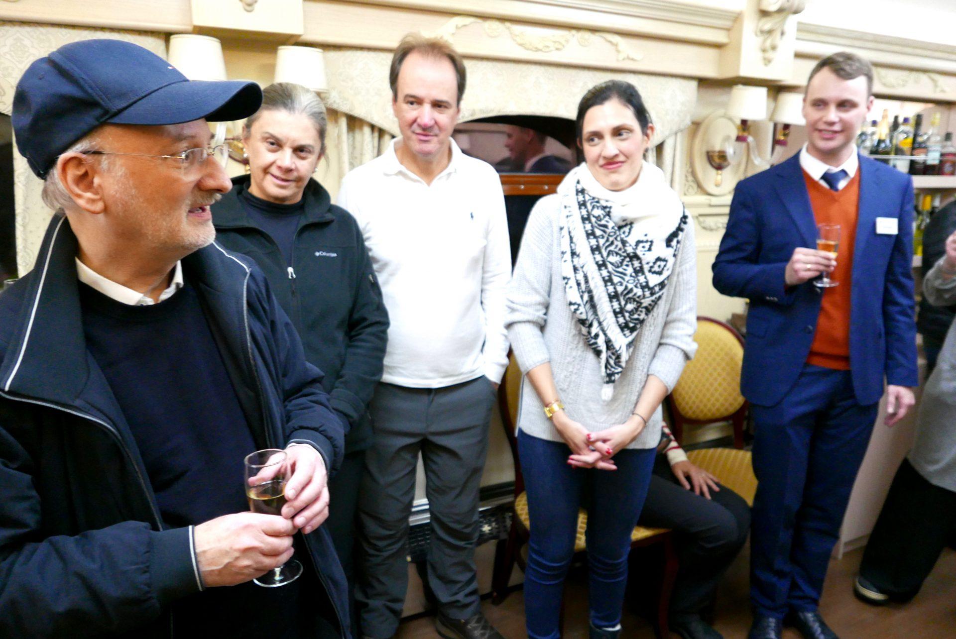 Helmut Mochel, diretor e proprietário da Eurasia Trains & Tour, Clara Kuraim, Eduardo Barbosa e Isis Pompilio, diretora da operadora Aviatrix