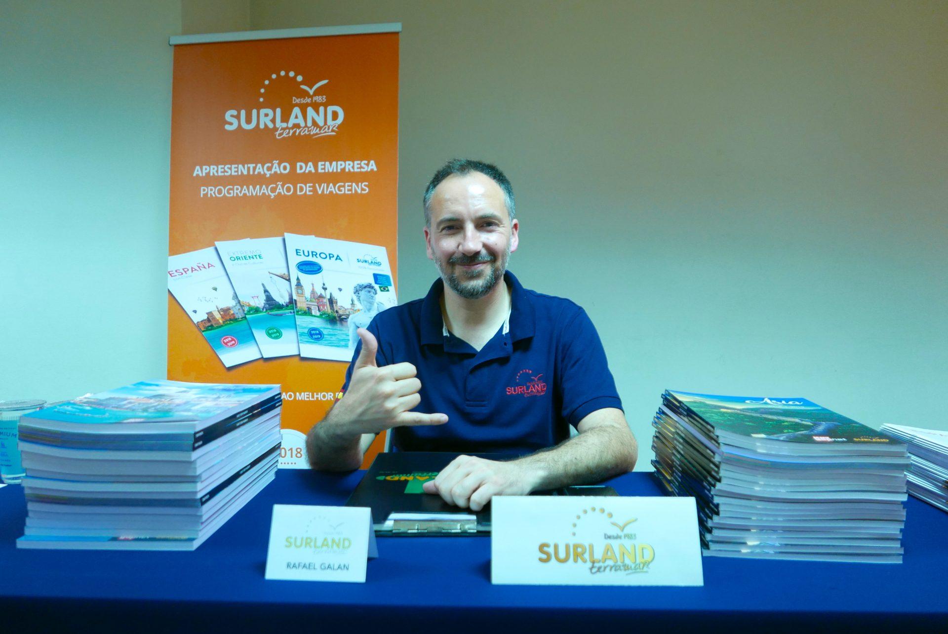 Rafael Galán, comercial Brasil & Paraguai da Surland