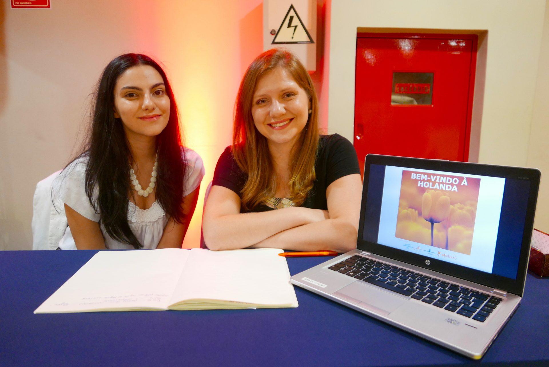 Nicole Nanci e Lisa Jose, da Edelman Significa, representante do destino Holanda