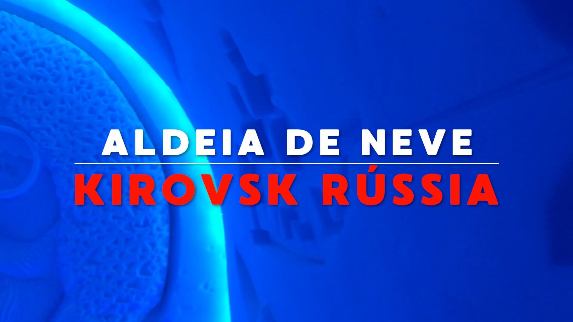 Aldeia de Neve Kirovsk Russia Circulo Polar Artico