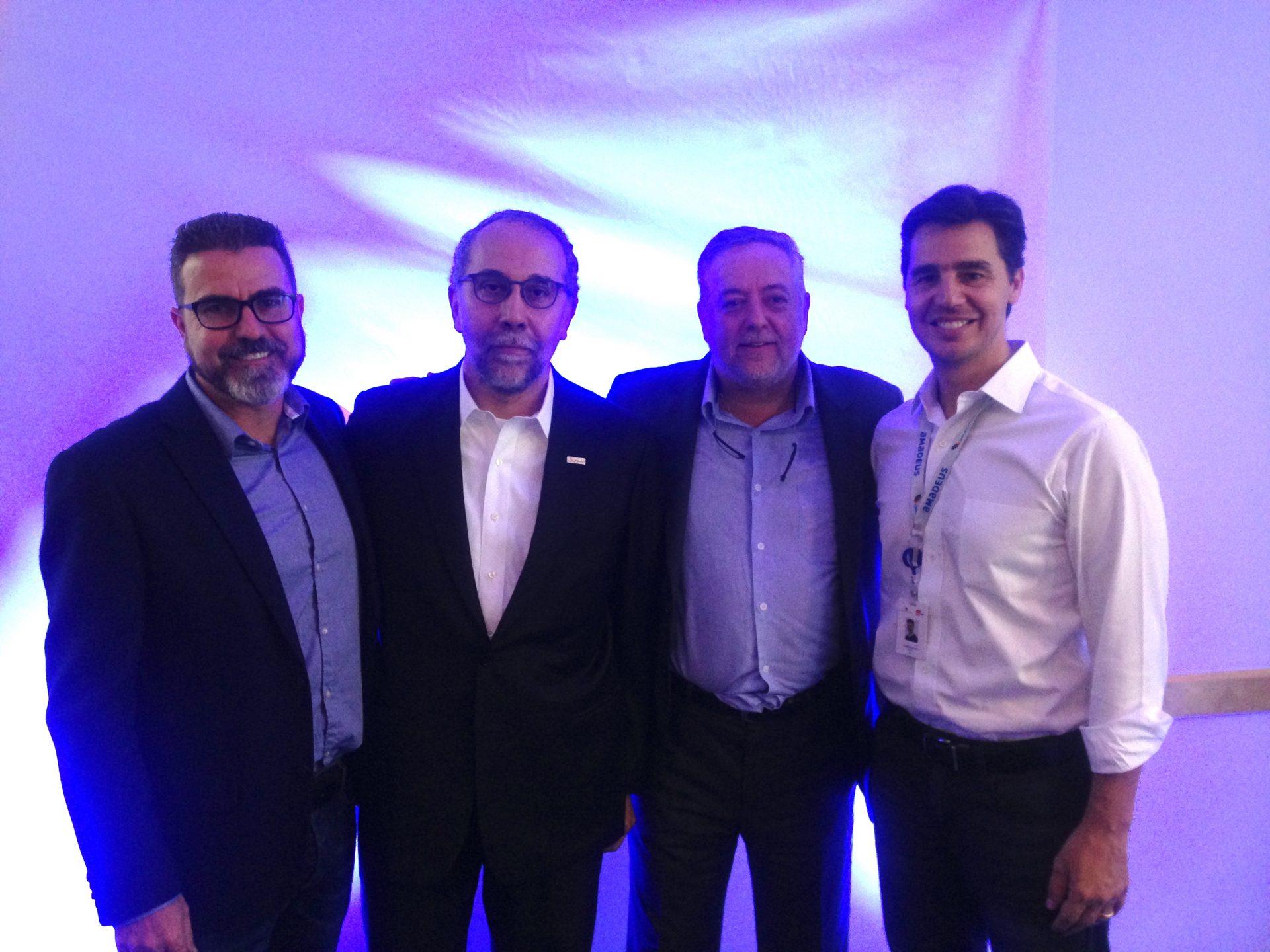 Emerson Amaral, Rui Alves, Michael Barkoczy e Christiano Oliveira, do Grupo Flytour