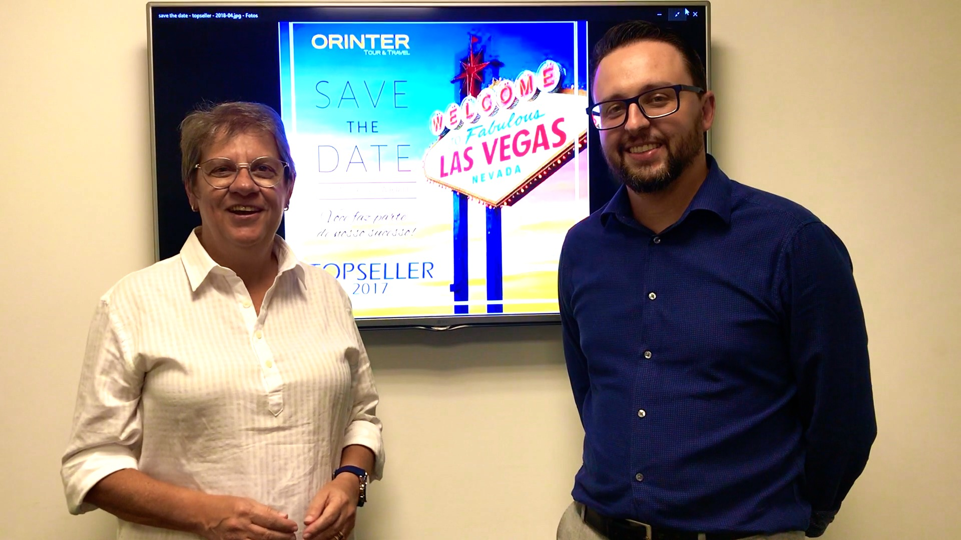 Ana Maria Berto e Roberto Sanches, diretores da Orinter Tour & Travel, convidam para o TopSeller 2017