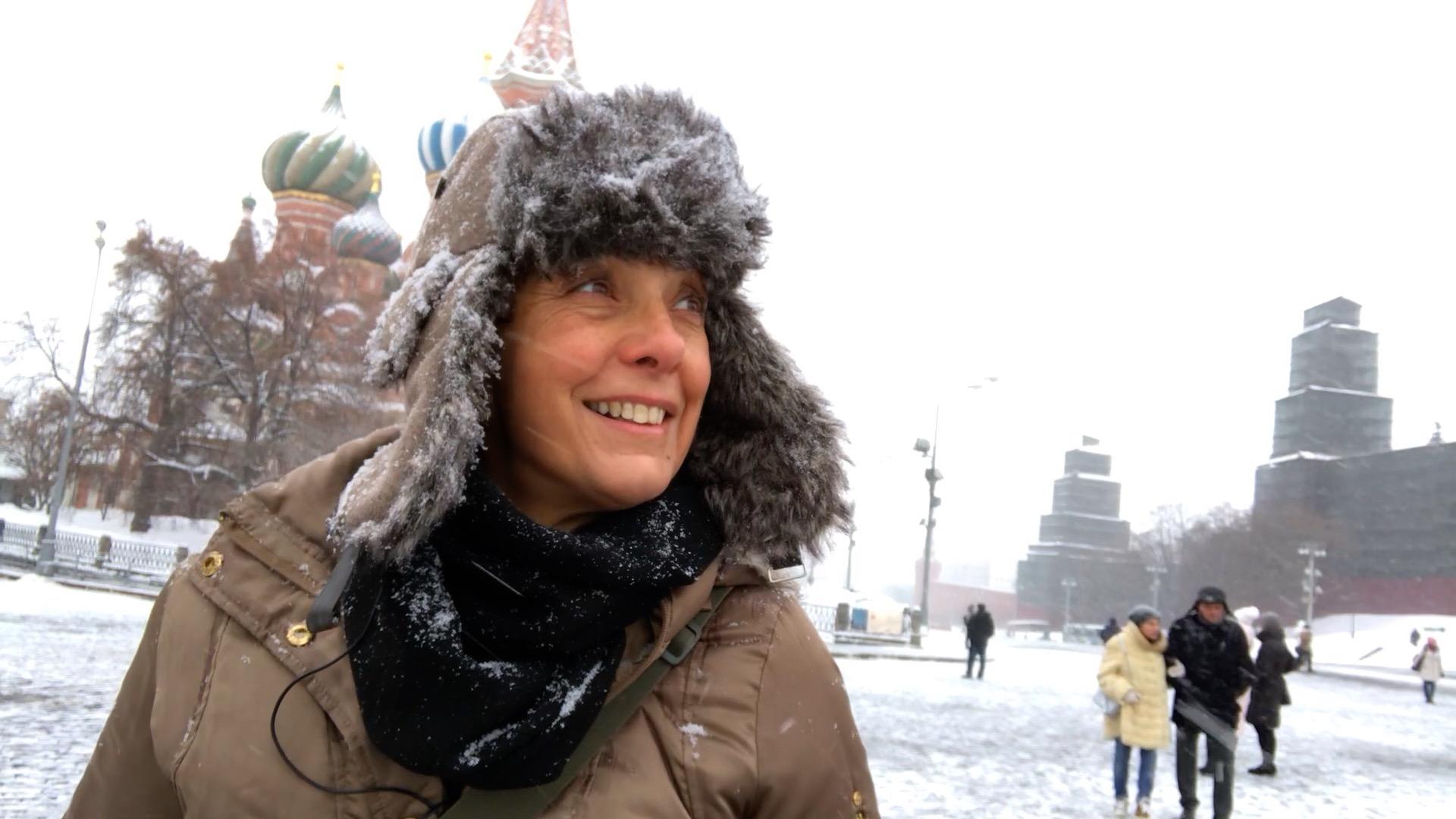 Claudia Tonaco na Praça Vermelha
