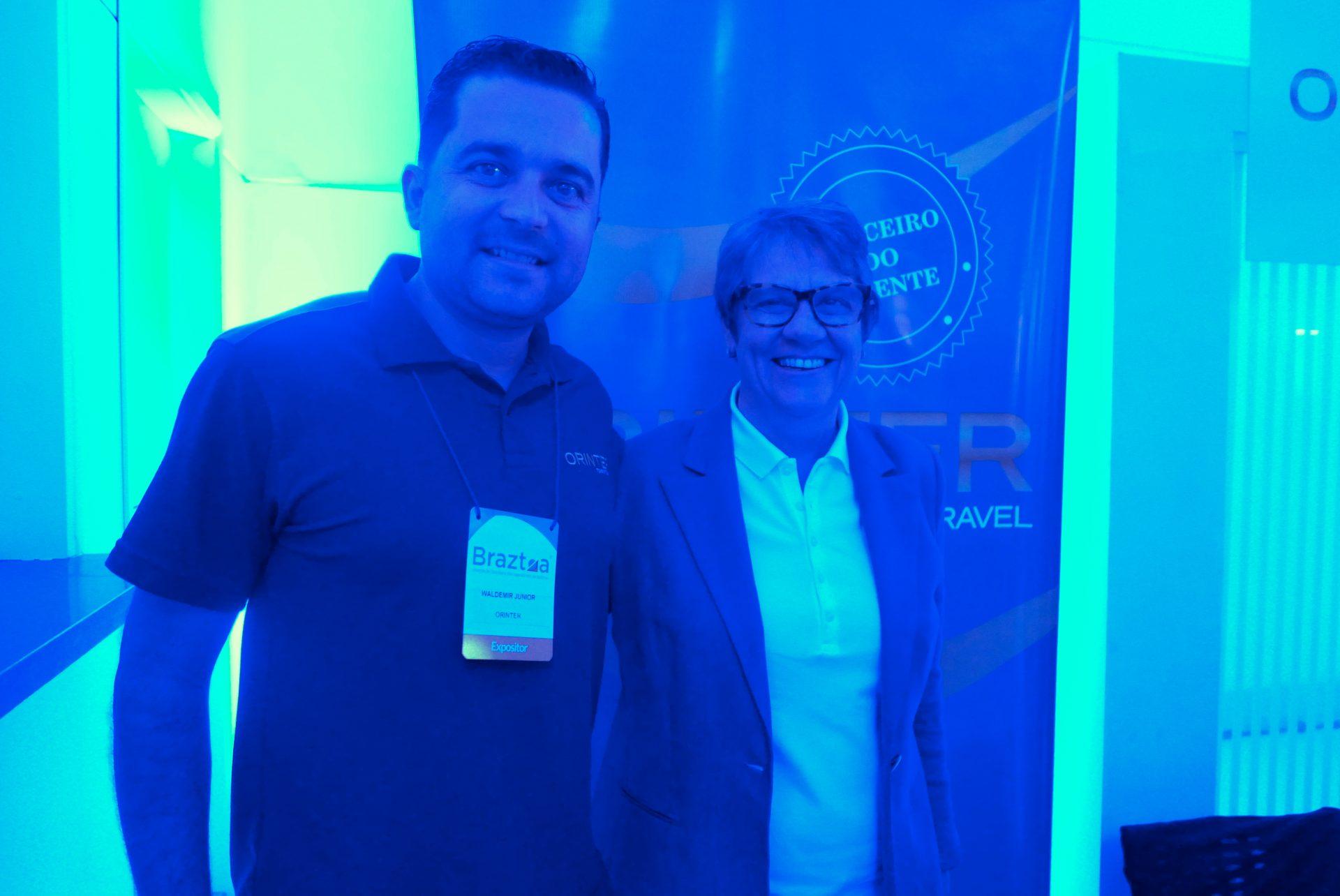 Waldemir Junior, diretor Regional Sul, e Ana Maria Berto, diretora Geral da Orinter Tour & Travel