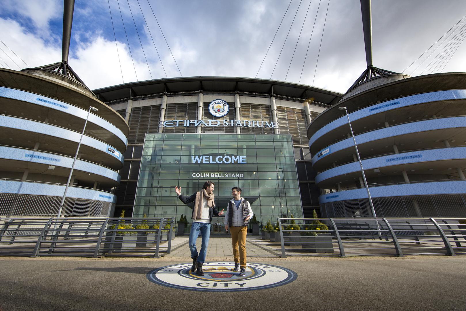 O Etihad Stadium, na cidade de Manchester, é uma atração para os apaixonados pelo futebol