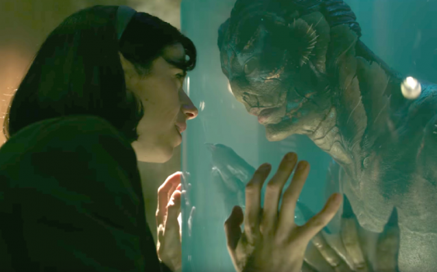 Cena do filme A Forma da Água (The Shape of Water) do mexicano Guilherme del Toro