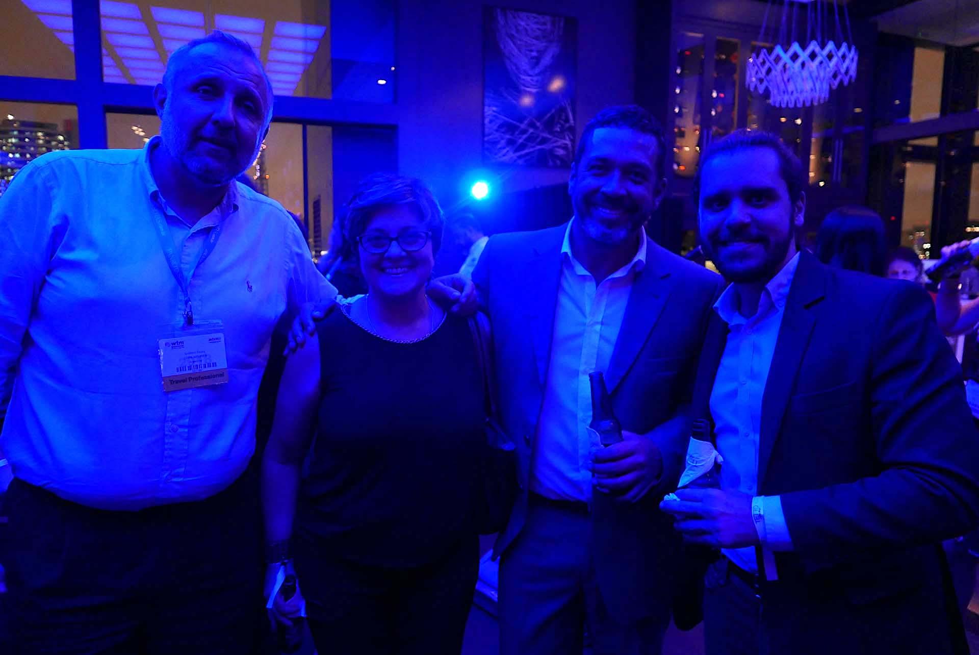 Gustavo Esusy, Nadia Kardouss, da Aviareps, Jorge Souza, e Jean-Bruno Gillot