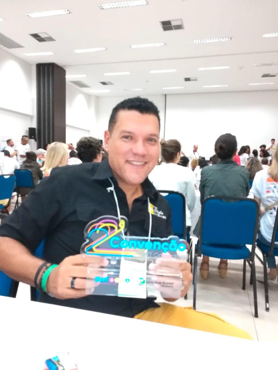 Edgardo Nazas participando da Convenção BWT Operadora