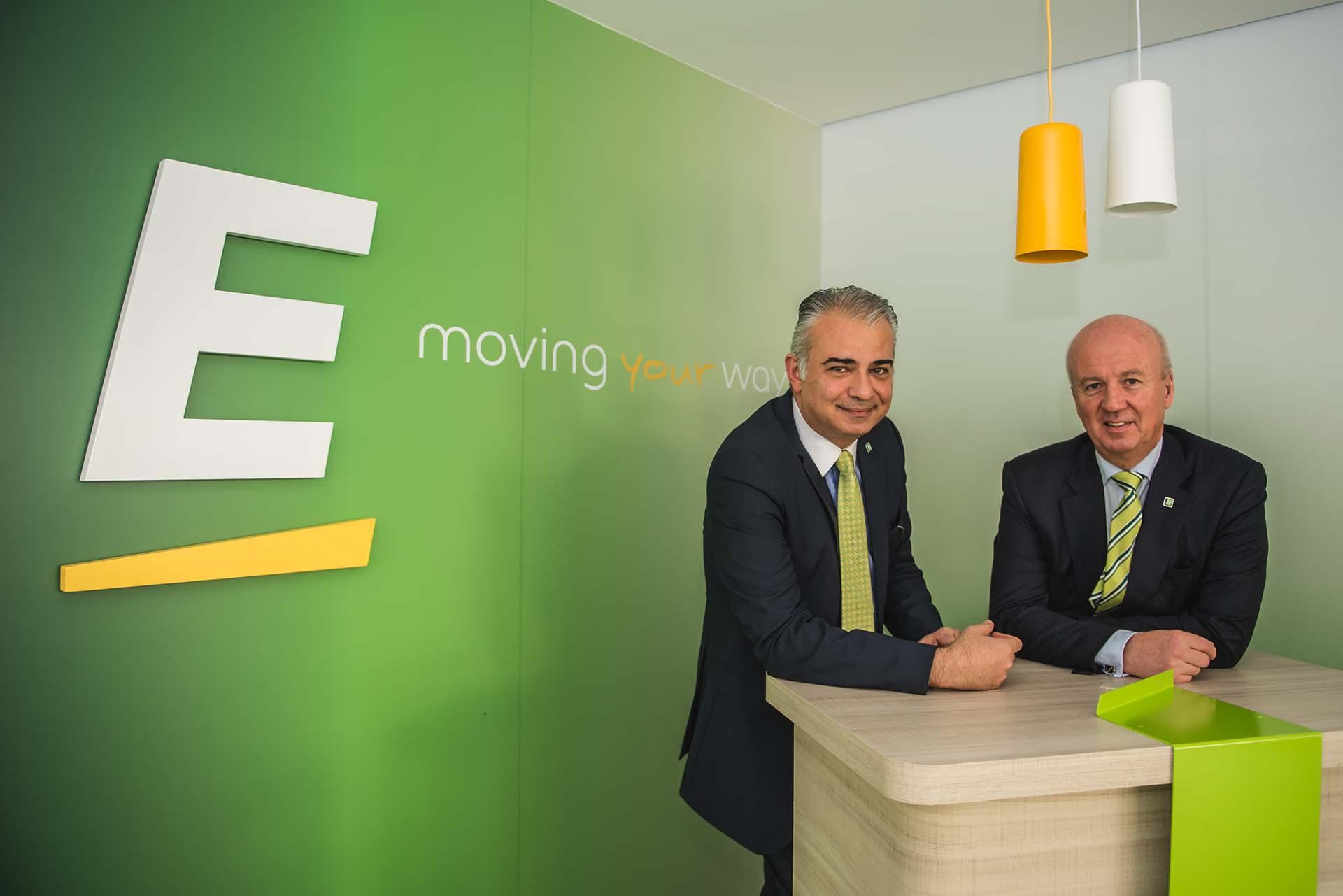 Paulo Gaba Jr., CEO da Europcar Brasil; e Marcus Bernhardt, diretor de cobertura internacional da companhia