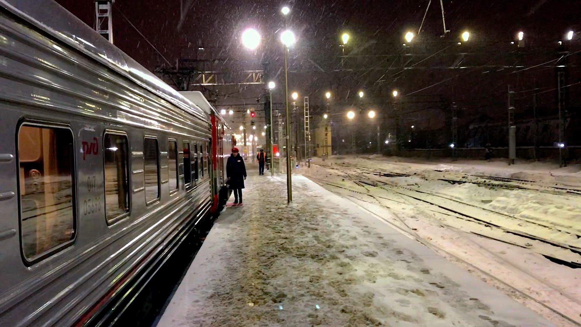 A emoção de chegar à Estação Ferroviária de Moscou e ver o trem, à sua espera