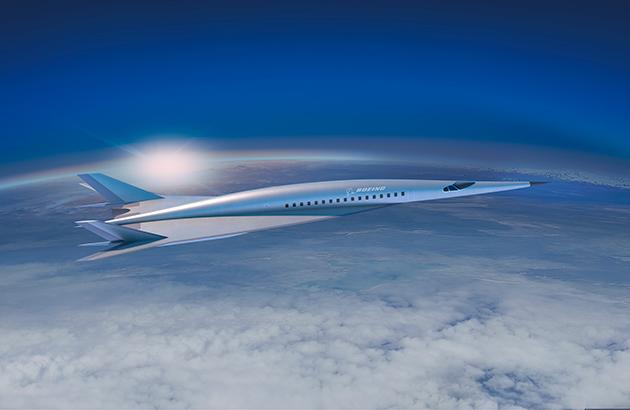 Imagem conceito divulgada pela Boeing do seu avião hipersônico