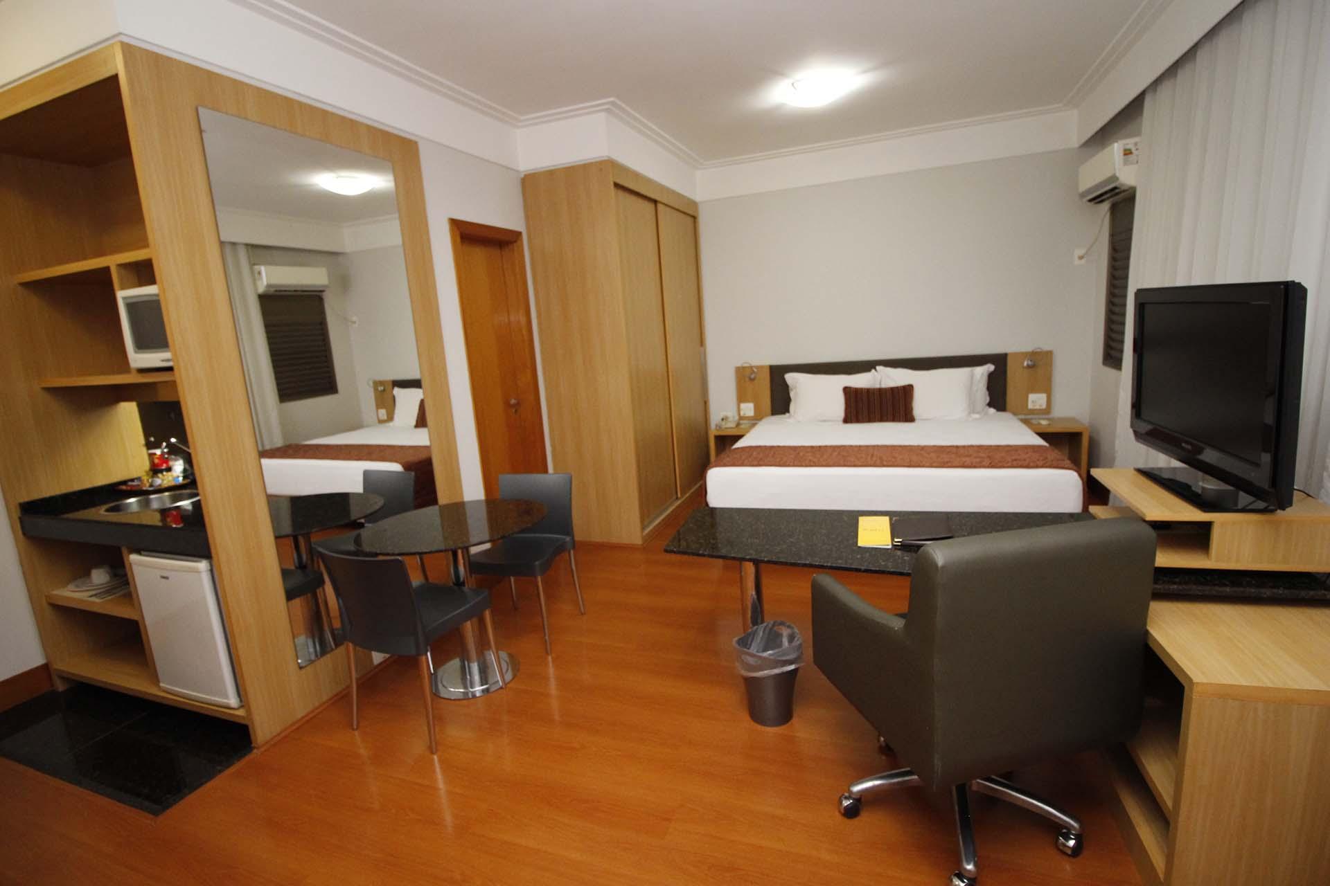 Uma das habitações do Quality Lourdes, em Belo Horizonte