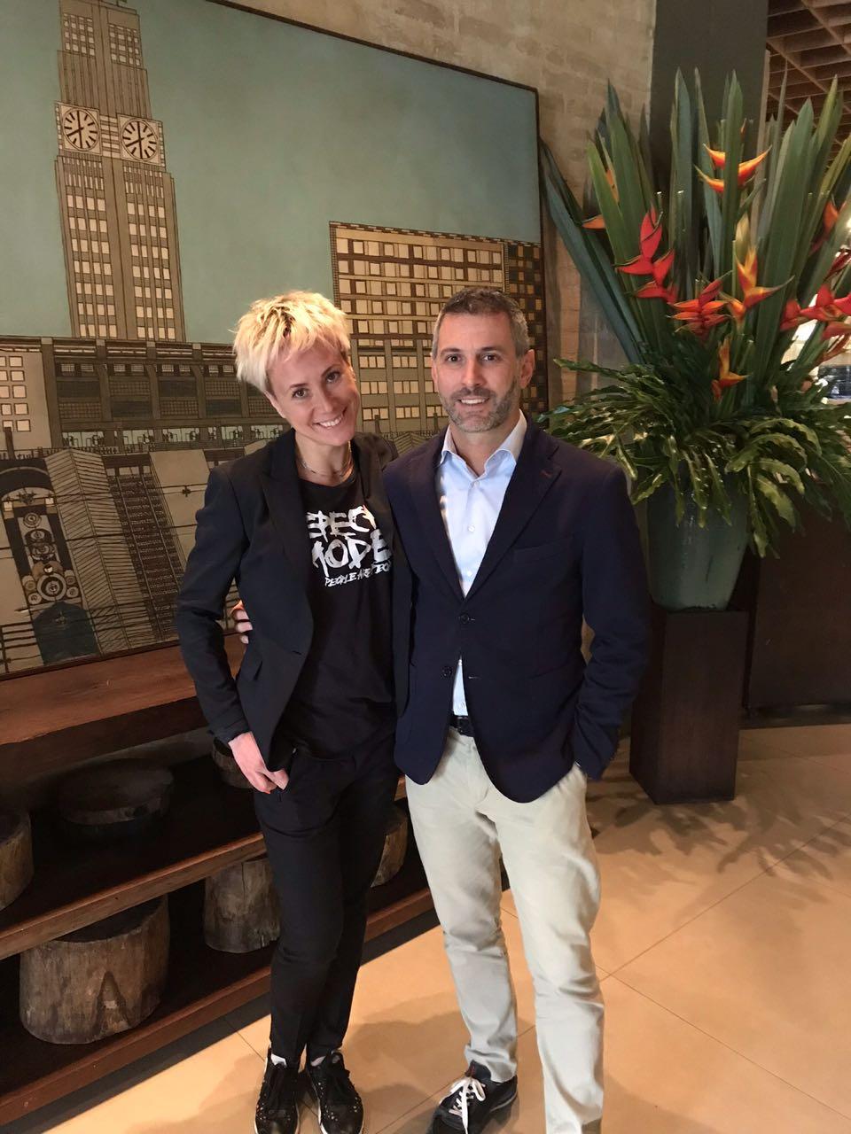 Natalya Stolyarova, da RUSMICE e Cristian Bernardi, da Bernardi Hotels & More
