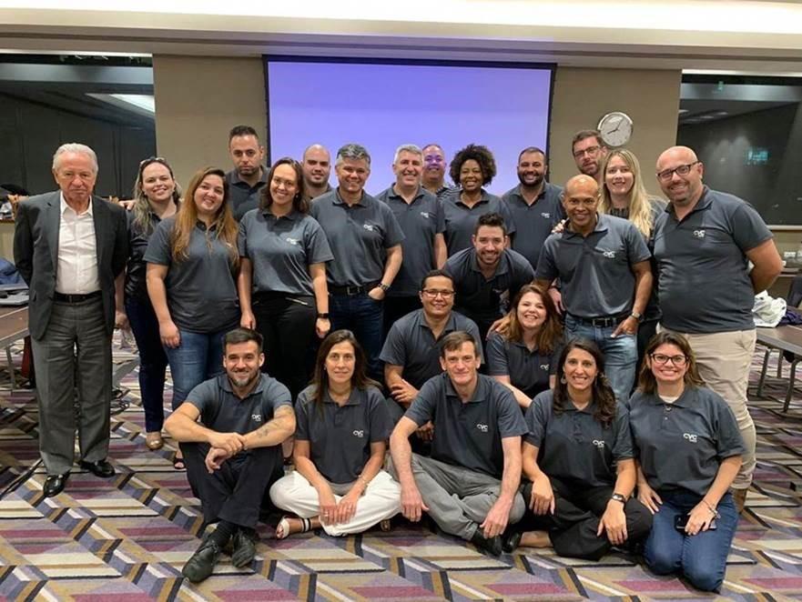 Os líderes da Visual Turismo durante o encontro anual que apresentou estratégias e produtos para 2019