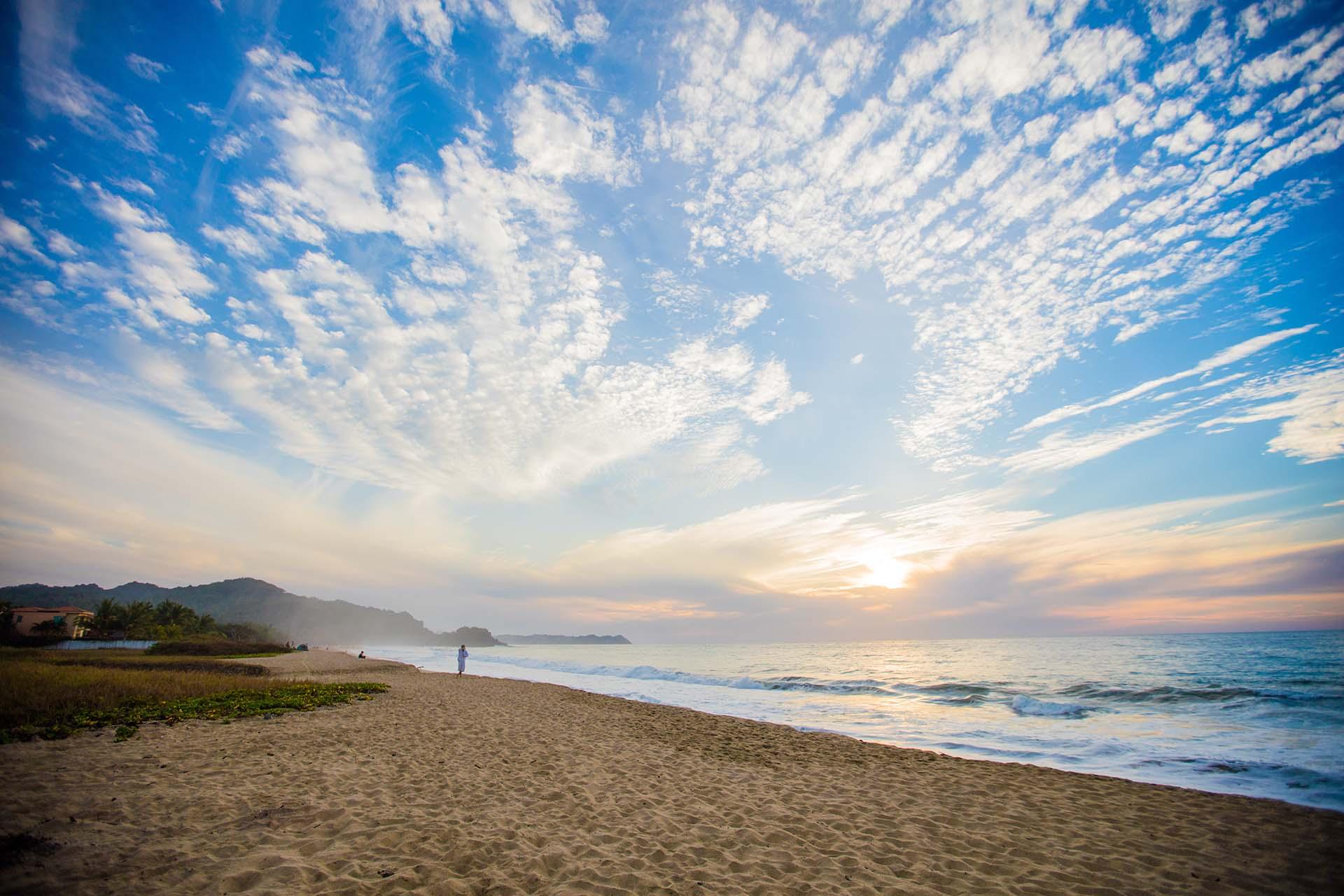 O cenário do litoral de San Pancho, na Riviera Nayarit