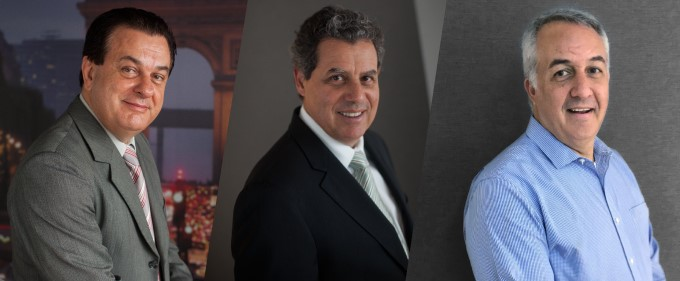 Valter Patriani, Luiz Falco e Sylvio Ferraz, da CVC Corp