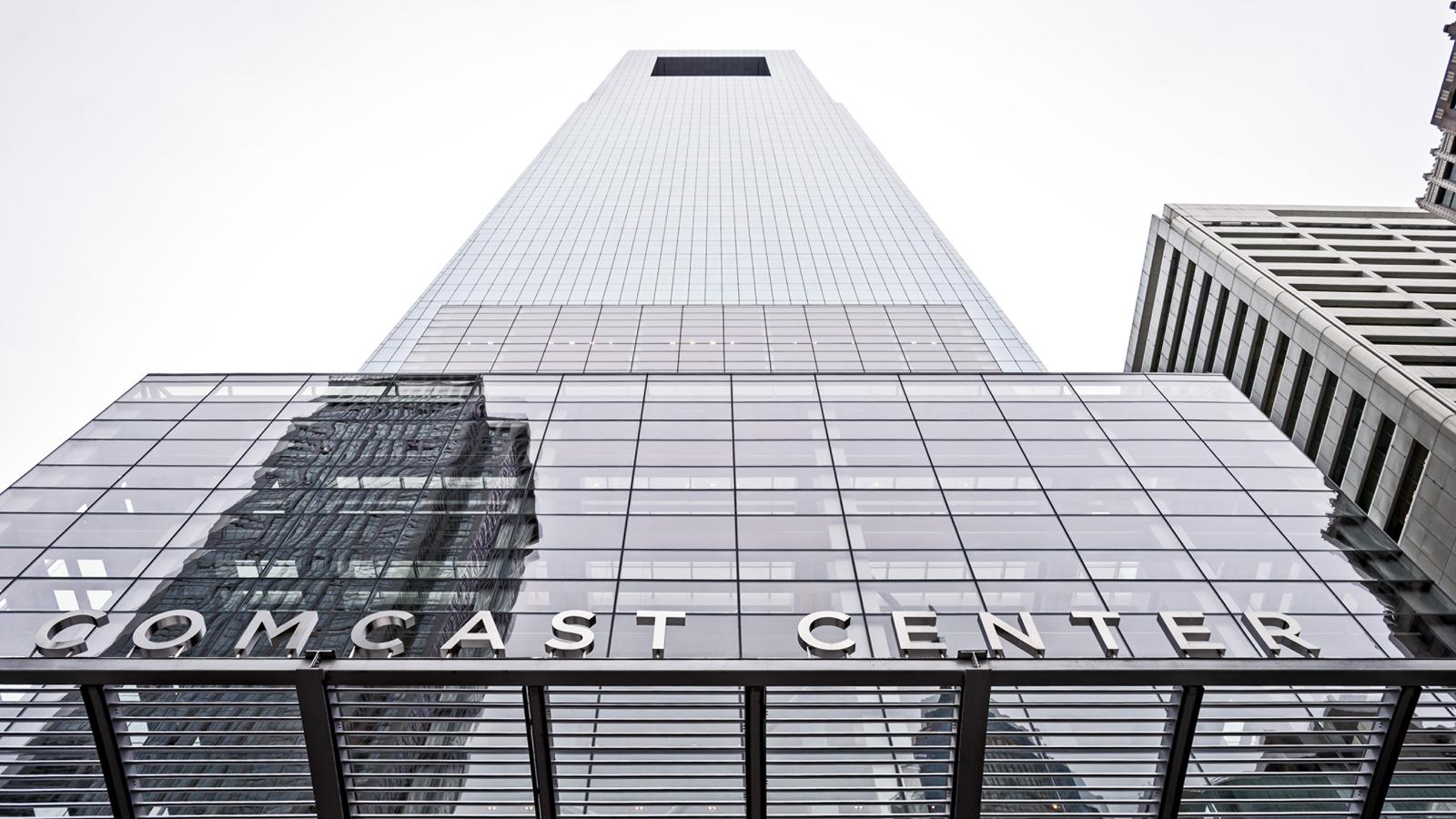 O prédio do Four Seasons Comcast Center, na Filadélfia, onde impera a tecnologia