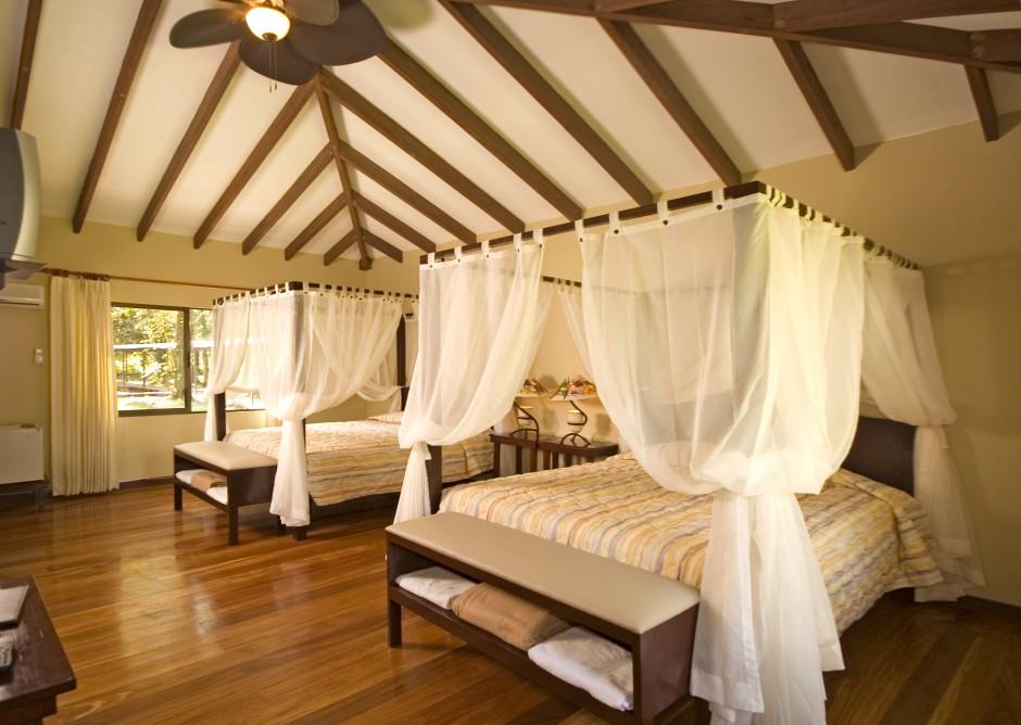 Quarto doManatus Lodge, considerado o melhor e mais confortável da região do Parque Nacional de Tortuguero