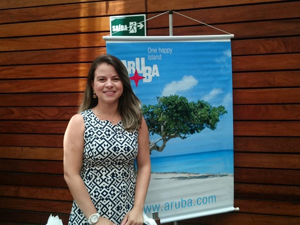 Fernanda Teixeira, do turismo de Aruba