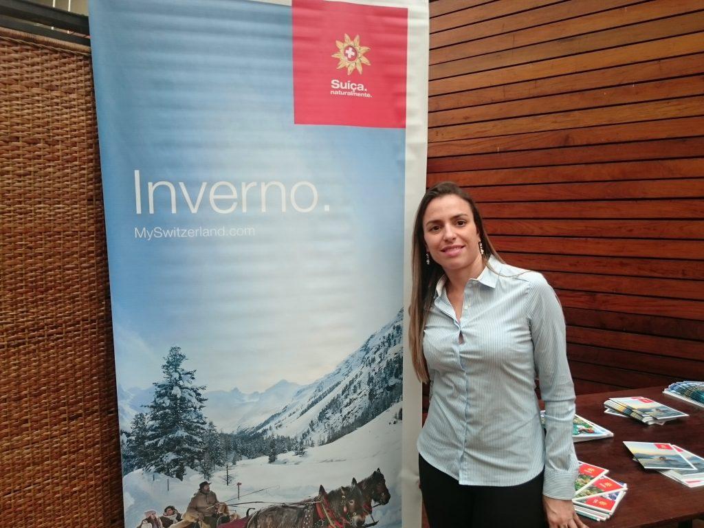 Natalia Leal, do turismo da Suíça