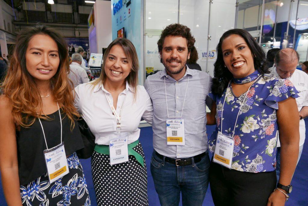 Wenna Guimarães, da Cap-Amazon; Taylise Fernandes, da Hello Brazil; Jean-Bruno Gillot, da Cap-Amazon, e Ana Leite, da Copa Airlines