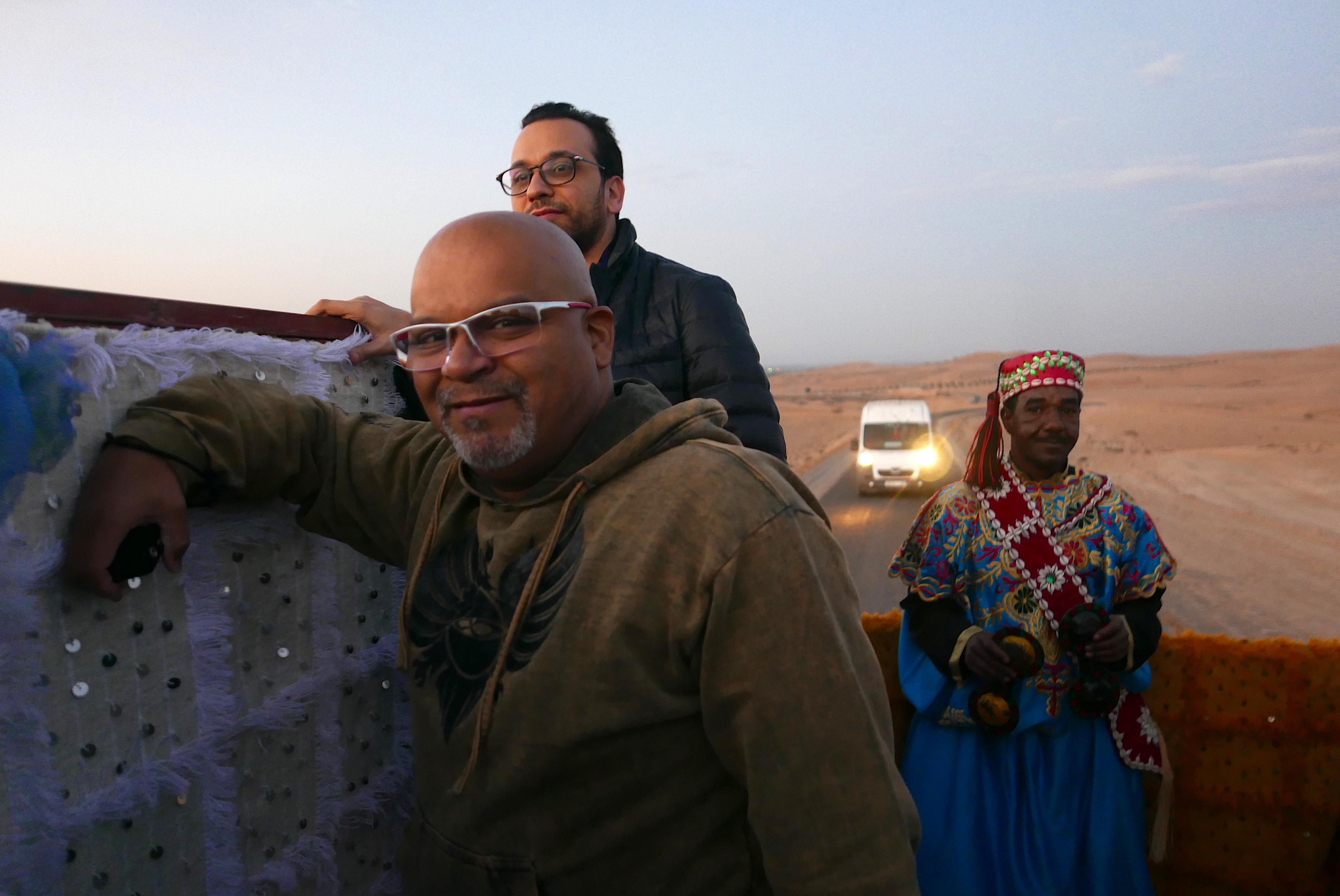 Sérgio Silva, da Flytour Viagens, recebe as boas vindas marroquinas
