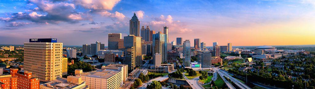 O belo skyline de Atlanta, capital da Georgia