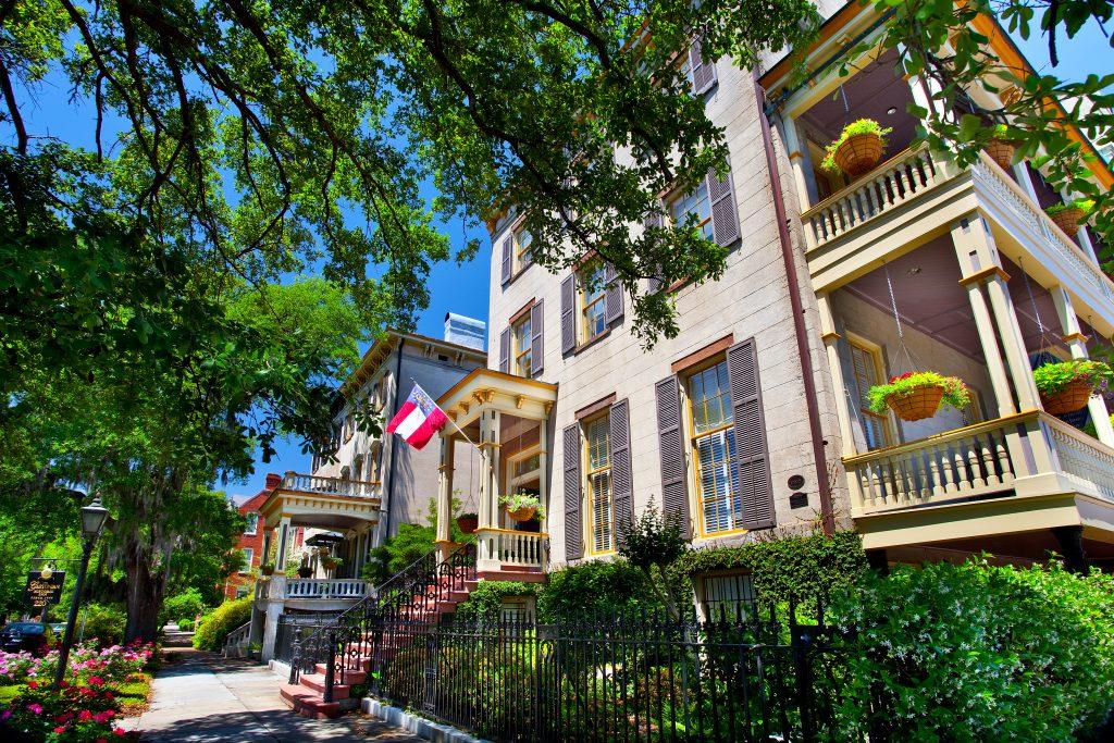 Centro histórico de Savannah e as mansões sulistas
