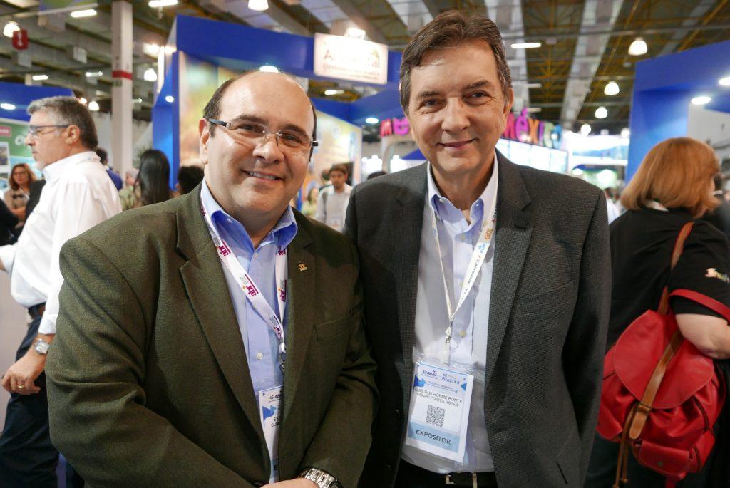 Sérgio Paraíso e Luis Guilherme Pontes, da rede Pontes Hotéis