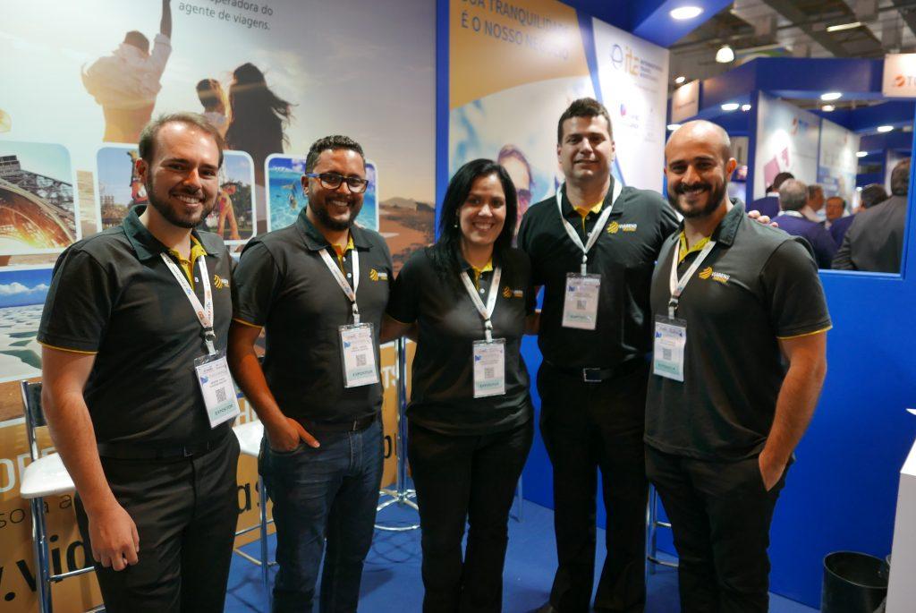 André Biagioni, Nery Junior, Carlota Soares, Daniel Dias e Celso Borges, da Viagens Master