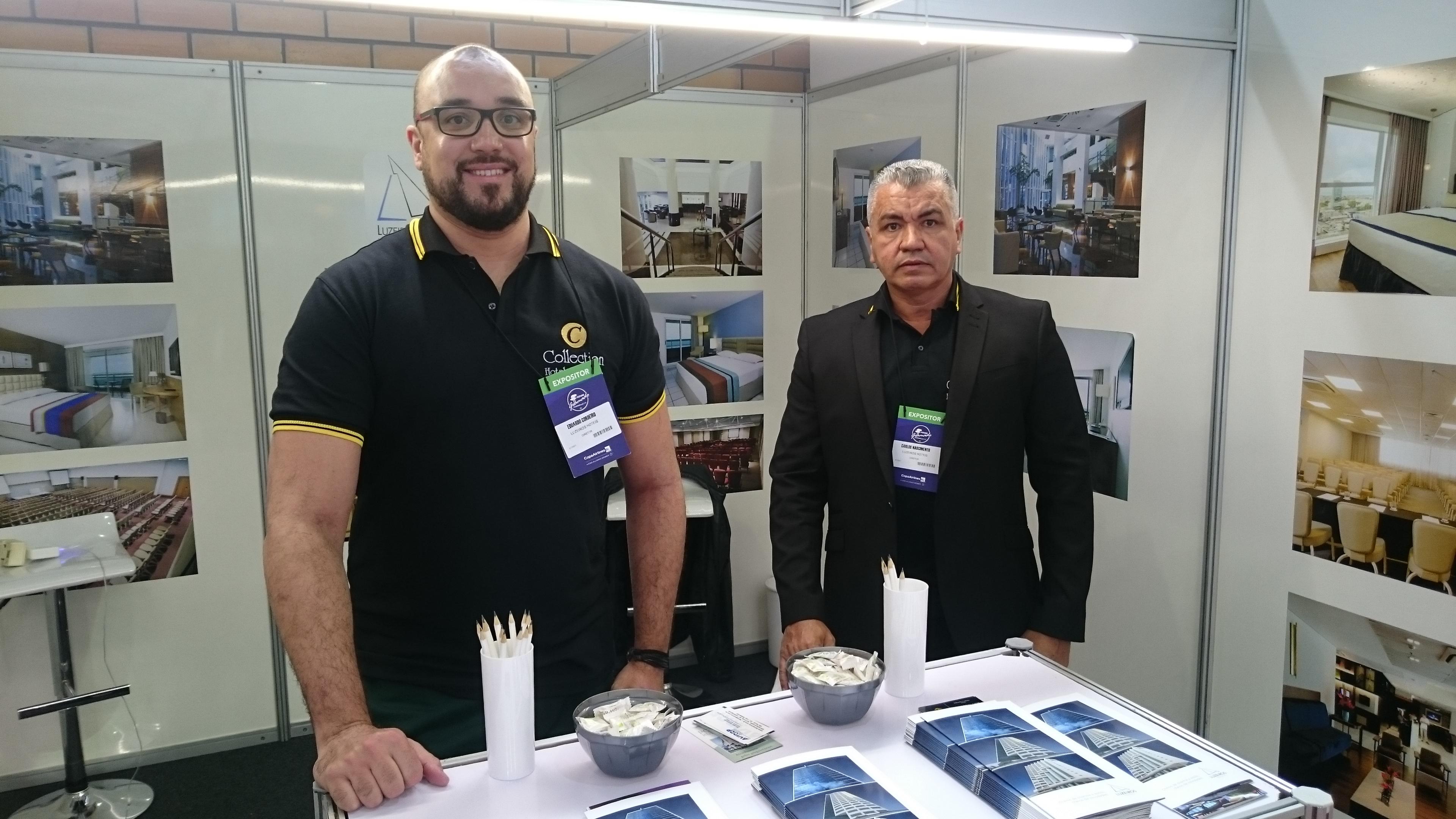 Eduardo Cordeiro e Carlos Nascimento, da Luzeiros hotéis Hotel
