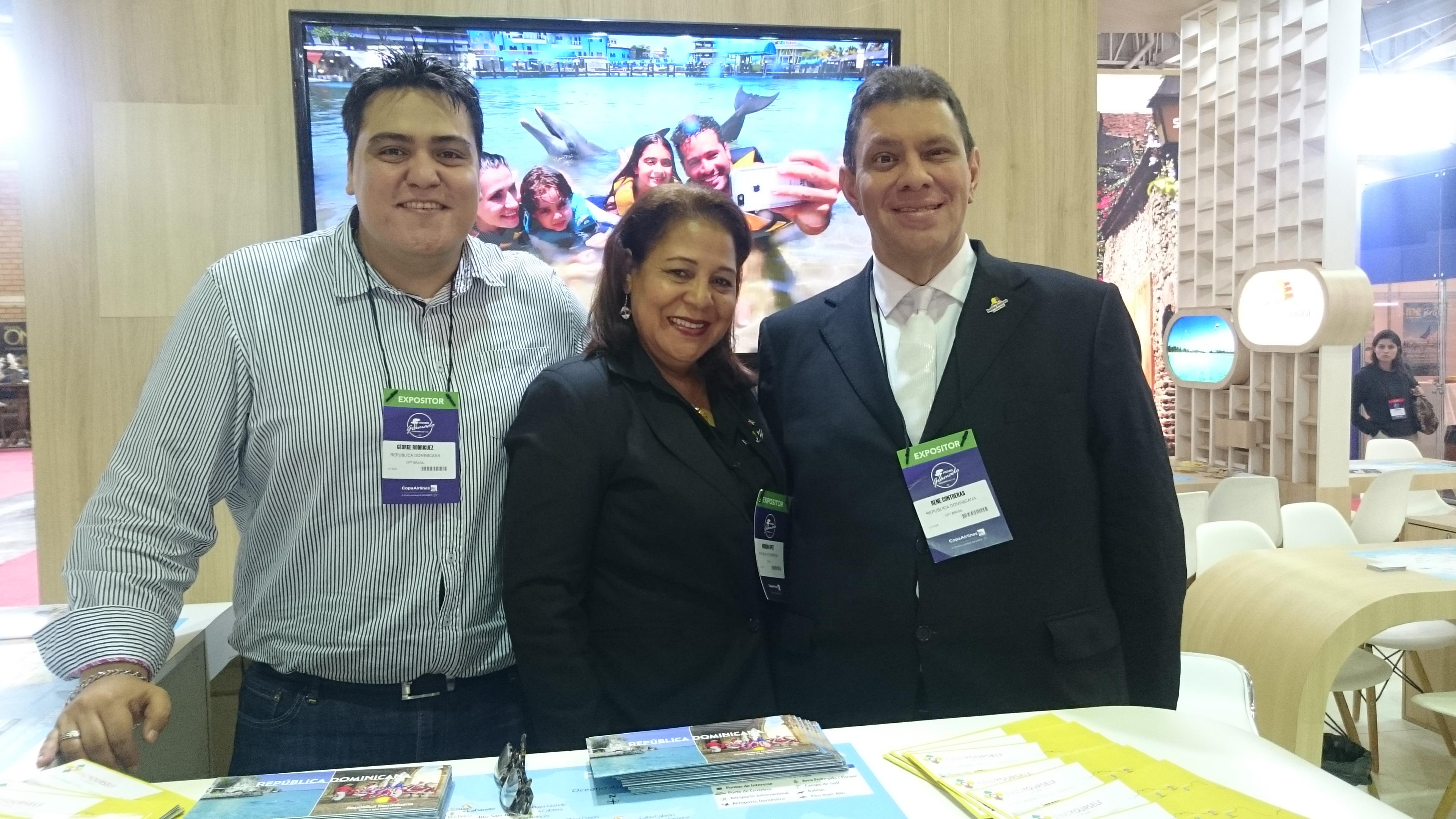 George Rodriguez, Nurquia Lopez e Rene Contreras, da República Dominicana