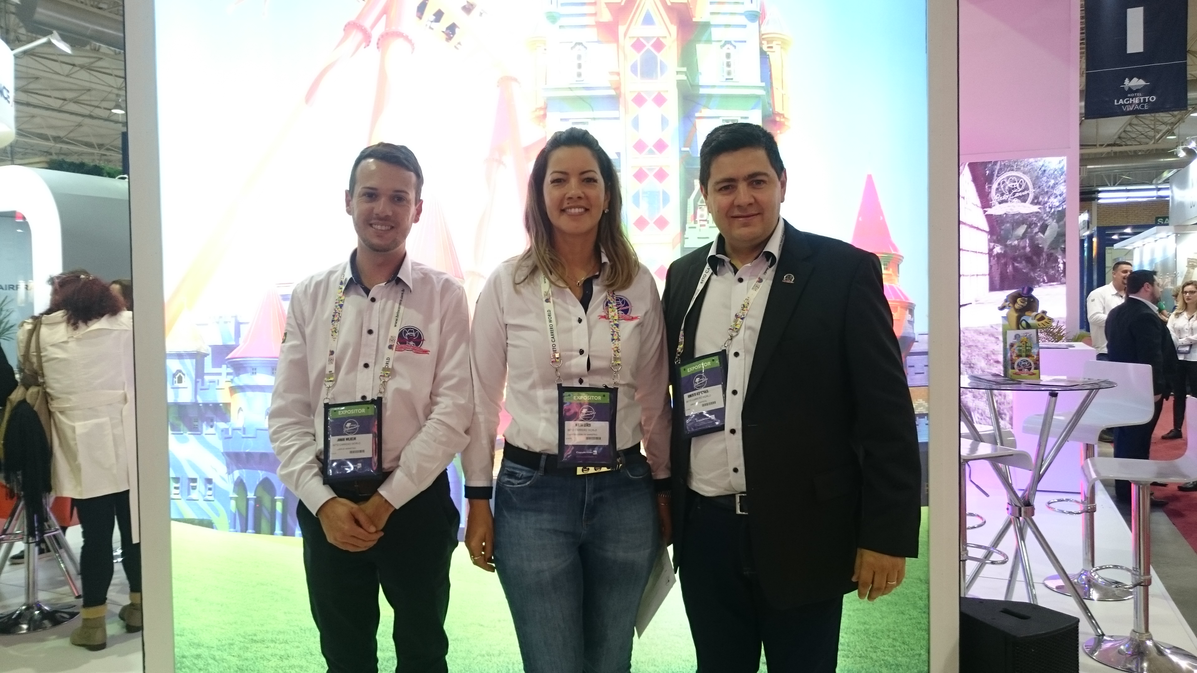 Junior Whilhelm, Kátia Leães e Roberto Vertemati, do Beto Carrero