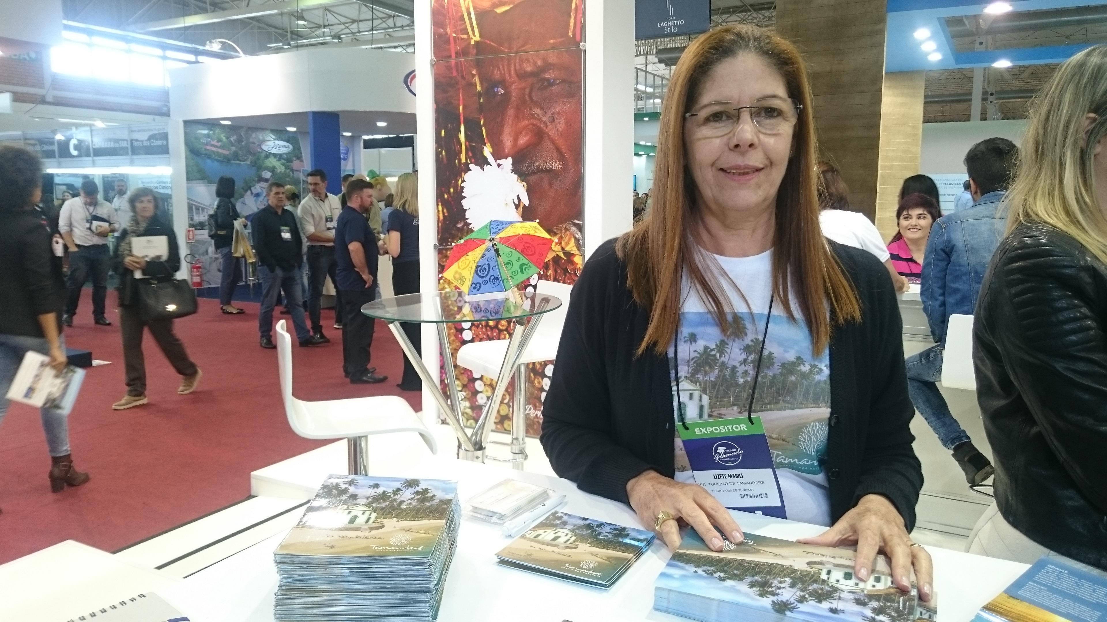 Lizete Maioli, da scretaria de Turismo de Tamandaré