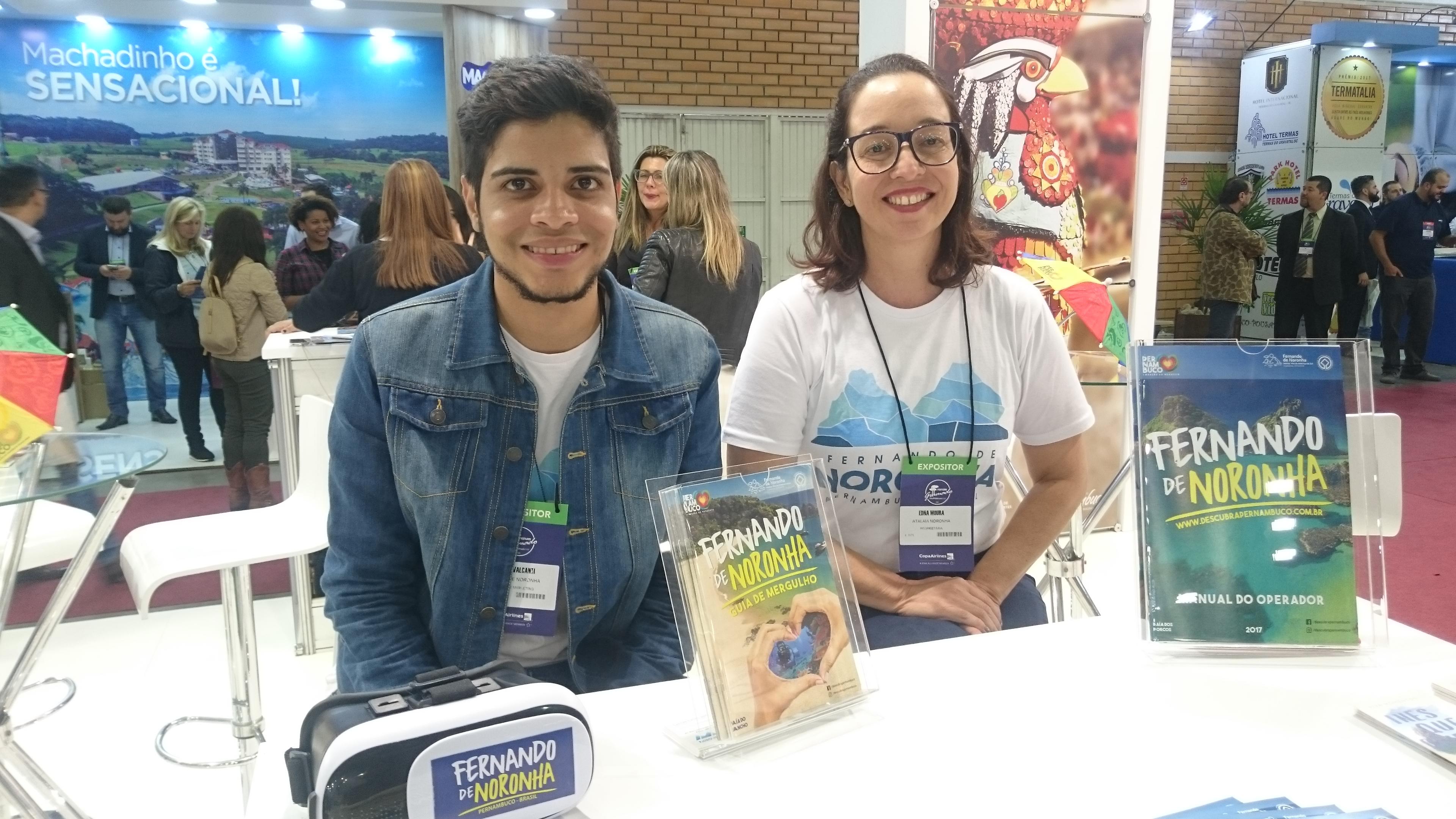 Luccas Cavalcante e Edna Moura, de Fernando de Noronha