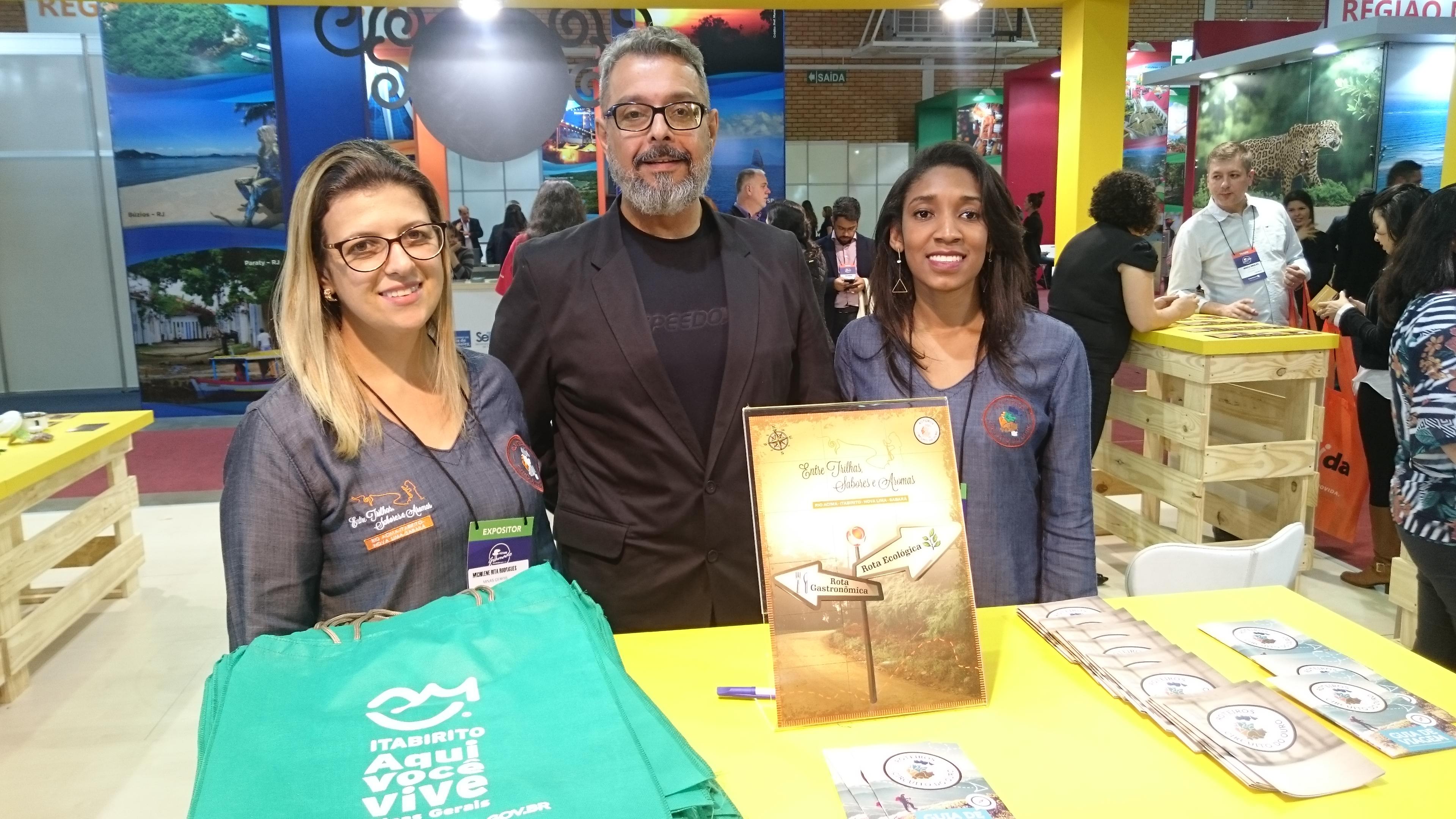 Michilene Rodrigues, Ubiraney Silva e Emanuele Oliveira, de Minas Gerais
